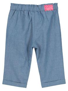 Baby girls' canvas trousers FICOPAN / 19SG0981PAN704