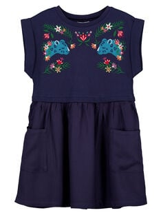 Girls' 2 in 1 printed dress GAMUROB3 / 19W901F4ROB070