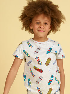 Heather gray and blue T-shirt - Child boy LOPOETI1 / 21S902Y2TMCJ920