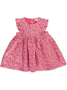 Baby girls' short-sleeved dress CIHOROB2 / 18SG09E3ROB099