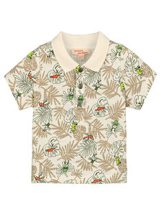 Baby boys' printed polo shirt FUYEPOL / 19SG10M1POL099