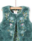 Reversible faux fur vest khaki child girl MAKACAR2 / 21W901I2CAR612