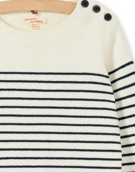 Off white striped sweater for boys LOJOPUL1 / 21S90231PUL001