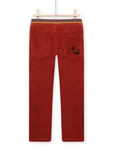 Light brown PANTS MOSAUPAN2 / 21W902P2PAN809