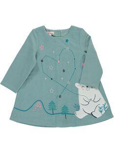 Baby girls' velour dress DIGIROB3 / 18WG09N3ROB205