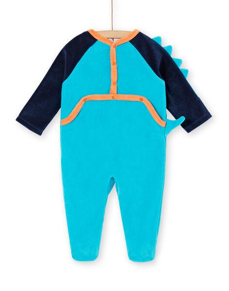 Boy's velvet sleep suit with dinosaur motif LEFUGREDIN / 21SH1413GREC230