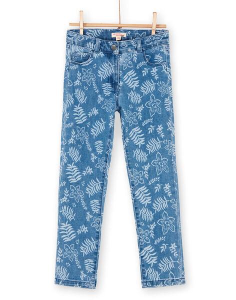 Blue floral print jeans LANAUJEAN / 21S901P1JEAP274
