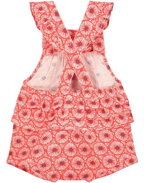 Baby girls' printed romper FITOBAR / 19SG09L1BAR330