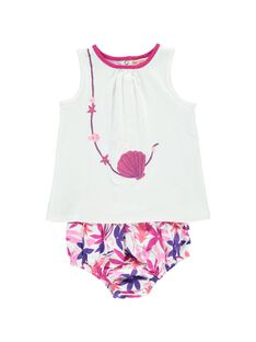 Baby girls' bloomer and vest set CIPLAENS2 / 18SG09Q2ENS000