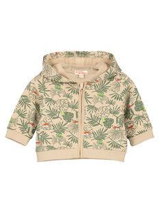 Baby boys' fleece cardigan FUYEGIL / 19SG10M1GIL099