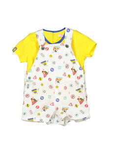 Baby boys' dungarees and T-shirt set FUCOENS / 19SG1081ENS000