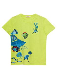 Sunny yellow T-shirt JOBOTI2 / 20S902H1TMC102
