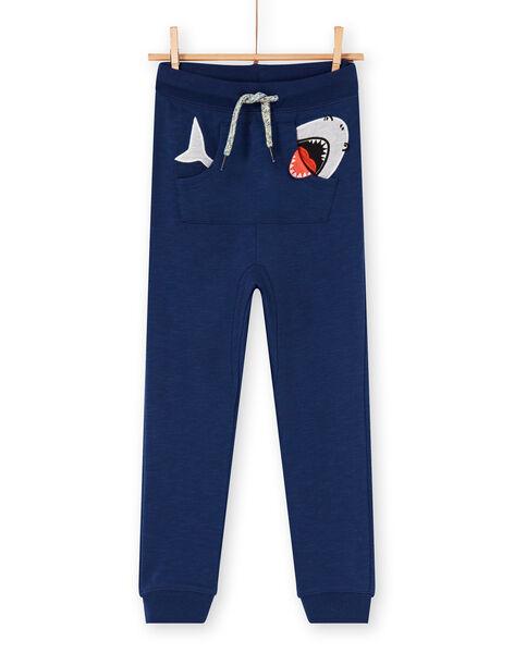Navy blue jogging suit - Child boy LONAUJOG1 / 21S902P2JGB070