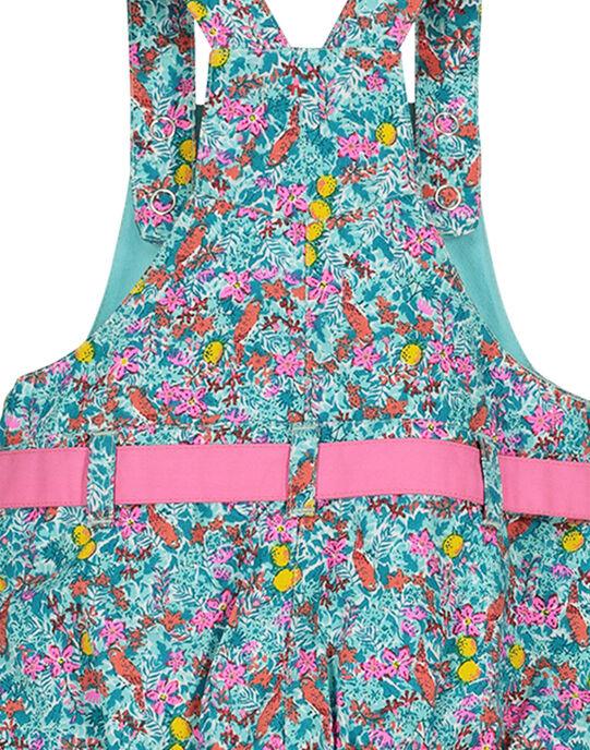Baby girls' flowery dungaree dress FICUROB3 / 19SG09N3ROB202
