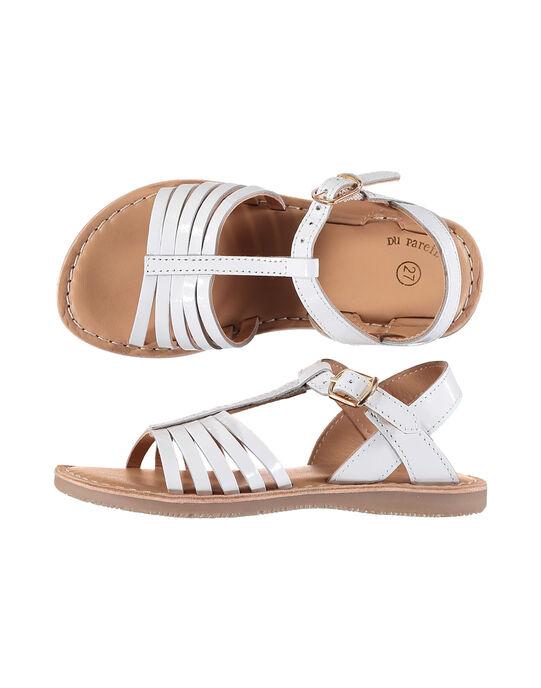 Girls' smart patent leather sandals FFSANDOLI3 / 19SK35C8D0E000