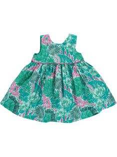Baby girls' sleeveless dress CIDOUROB2 / 18SG09J2ROB099