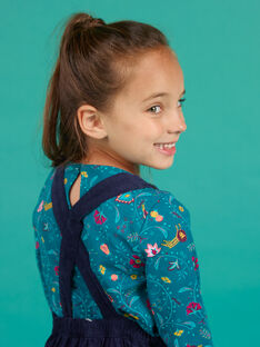 Girl's navy blue overalls dress MATUROB4 / 21W901K3ROB070