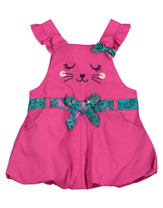 Baby girls' poplin dress FITUROB2 / 19SG09F2ROB712