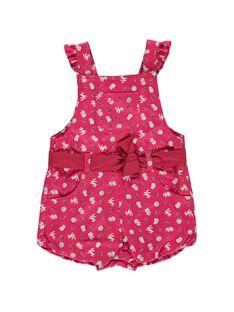 Baby girls' short bloomer dungarees DIROUSAL / 18WG0921SAC099