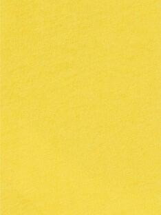 Yellow cotton t-shirt baby boy LUNOTEE2 / 21SG10L2TML106
