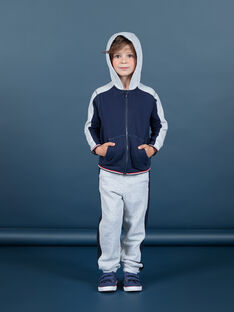 Boy's grey and navy blue jogging suit MOJOJOB3 / 21W90211JGBJ922