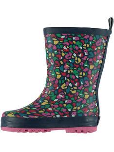 Botte de pluie multicolore léopard enfant fille GFBPMUL / 19WK35G1D0C070