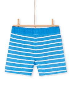 Blue and white bathing shorts for boys LYOMERBOXEX / 21SI02DBMAIC238