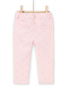 Pink pants with sequined patterns LIJOPAN2 / 21SG0932PAND326