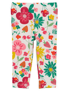 Baby girls' printed leggings FYIYELEG / 19SI09M1CAL099