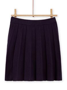 Baby Girl's Dark Blue Pleated Knit Skirt MAFUNJUP1 / 21W901M1JUPH703