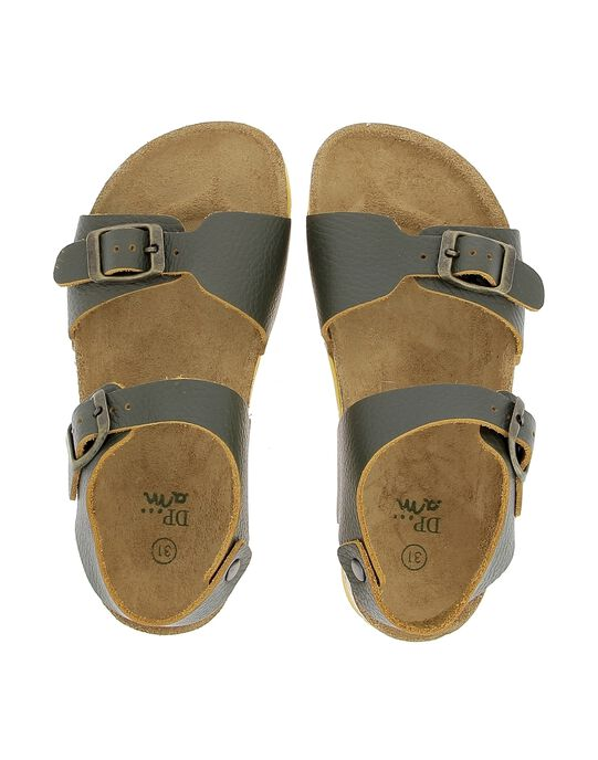 Boys' leather sandals CGNUKAKI / 18SK36W8D0E604