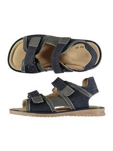 Boys' smart two-tone leather sandals FGSANDBOY / 19SK36C3D0E070
