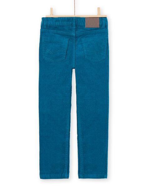 Boy's blue duck velvet pants MOJOPAVEL1 / 21W90213PAN714