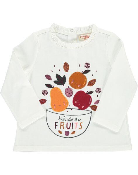 Baby girls' long-sleeved T-shirt DIPINTEE / 18WG09P1TML001
