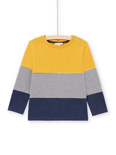 Boy's Yellow and Navy T-shirt MOJOTIDEC2 / 21W90221TML113