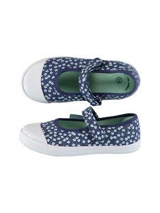 Navy Salome canvas shoes FFBABSHEL / 19SK35B1D17070