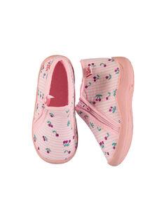Baby girls' jersey boot slippers FBFBOTCER / 19SK3731D0A030