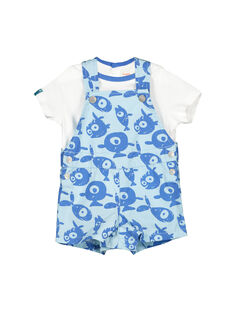 Baby boys' dungarees and T-shirt set FUNEENS / 19SG10B1ENS020