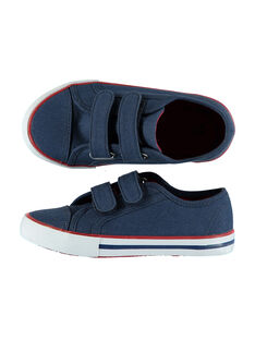 Boys' plain canvas trainers FGVELBLE / 19SK36B4D16C218