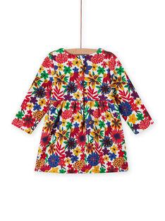 Baby girl's colorful floral print long sleeve dress MIMIXROB3 / 21WG09J2ROB001