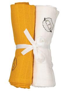Pack of unisex babies' muslin cloths GOU1LAN / 19WF4211LANB105