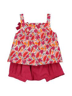 Baby girls' dress and bloomer set FIPLAENS1 / 19SG09P1ENS000
