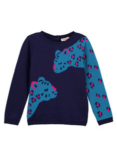 Girls' printed warm sweater GAMUPULL / 19W901F1PUL070