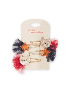 Set of 4 cats and stars brads child girl MYANOCLIC2 / 21WI01T6BRT955