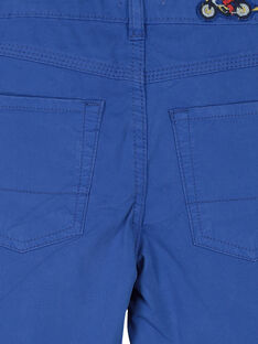 Boys' blue shorts FOCOBER2 / 19S90282BER703