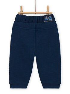 Baby boy's celestial blue pants with extraterrestrial patch MUPLAPAN1 / 21WG10O1PANC204