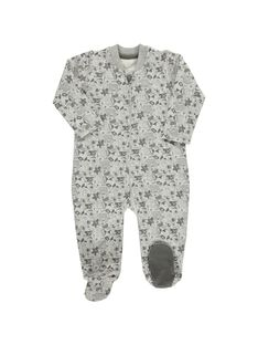 Baby boys' cotton sleepsuit CEGUGREMER / 18SH1453GRE099