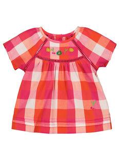 Baby girls' checked smock FIYECHEM / 19SG09M1CHE000