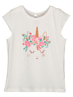 Girls' unicorn print T-shirt GAVETI2 / 19W90122TMC001