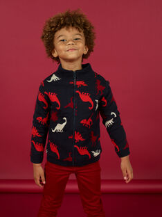 Child boy's jacquard zipped vest MOFUNGIL1 / 21W902M2GILC234
